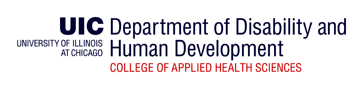 Logo: Department of Human Development, College of Applied Health Sciences, UIC